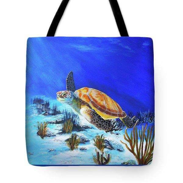 Loggerhead Sea Turtle Tote Bag by John Moon