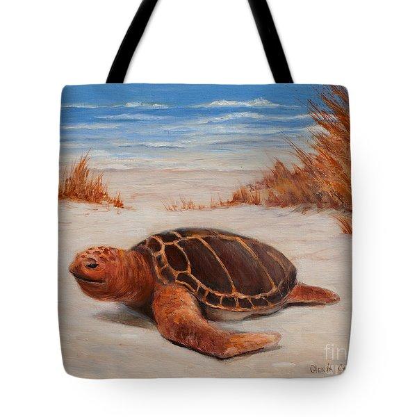 Loggerhead Turtle Tote Bag