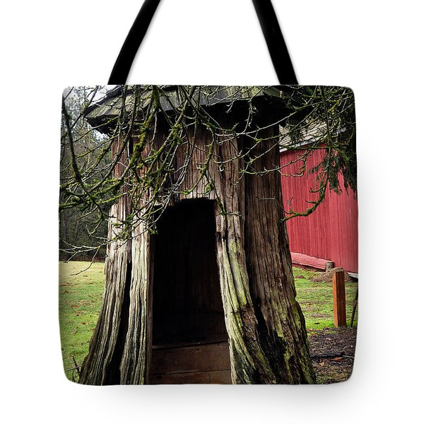 Loggers Outhouse Tote Bag