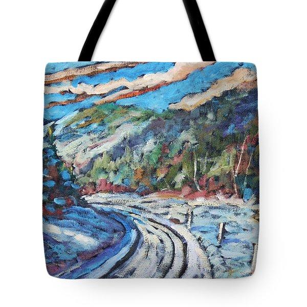 Loggers Road  Tote Bag by Richard T Pranke
