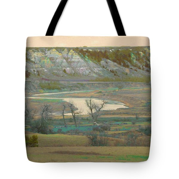 Logging Camp River Reverie Tote Bag