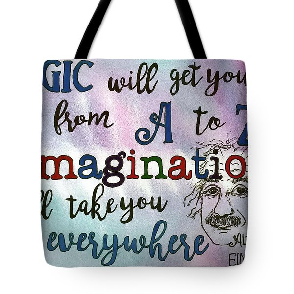 Tote Bag featuring the painting Logic by Diane Fujimoto