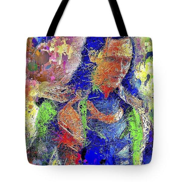 Tote Bag featuring the mixed media Loki by Al Matra