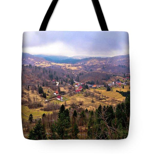 Lokve Valley In Gorski Kotar View Tote Bag