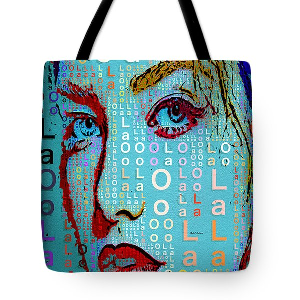 Tote Bag featuring the digital art Lola Knows by Rafael Salazar