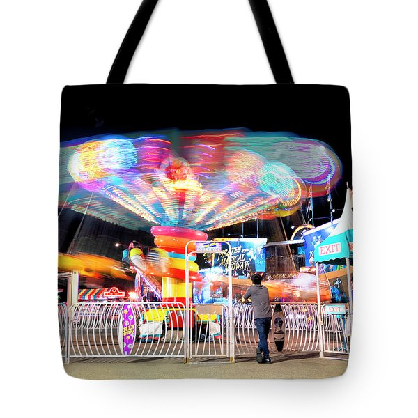 Tote Bag featuring the photograph Lolipop Wheel- by JD Mims