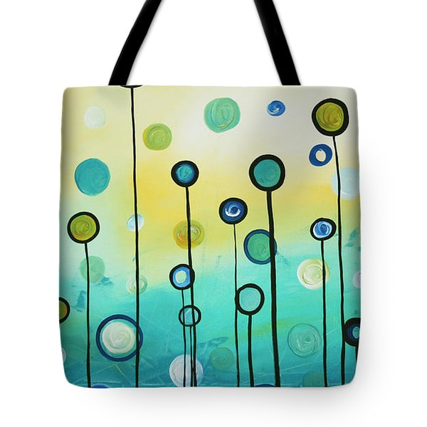 Lollipop Field By Madart Tote Bag by Megan Duncanson