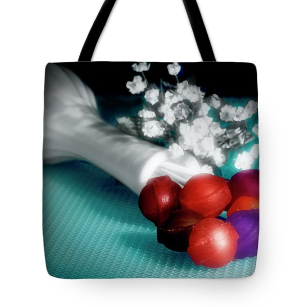 Lollipop Roses Tote Bag by Tom Mc Nemar