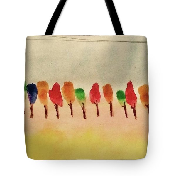 Lollipop Trees Tote Bag by Kim Nelson