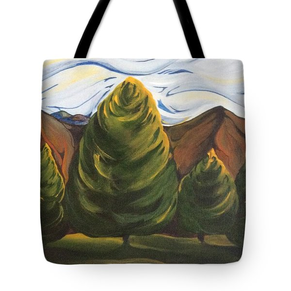 Lollipop Trees Tote Bag by Pat Purdy