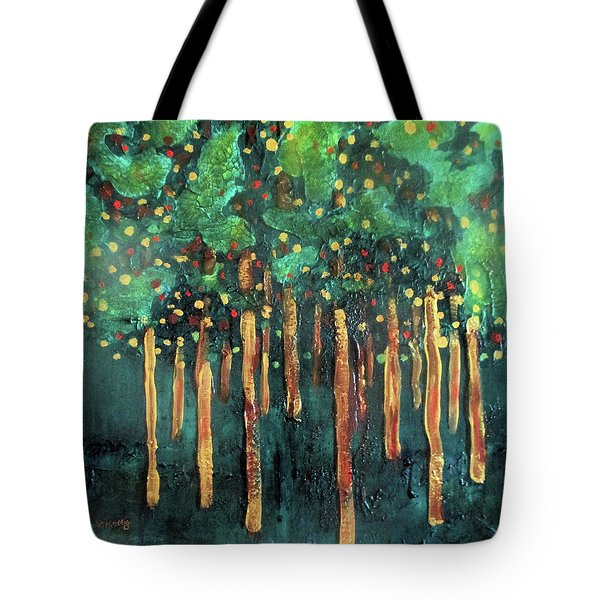 Tote Bag featuring the painting Lollipop Trees by Valerie Anne Kelly