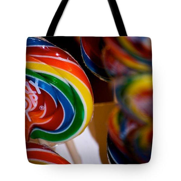 Lollipops Tote Bag by Lisa Knechtel