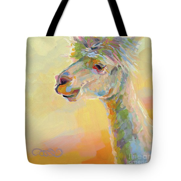 Lolly Llama Tote Bag by Kimberly Santini