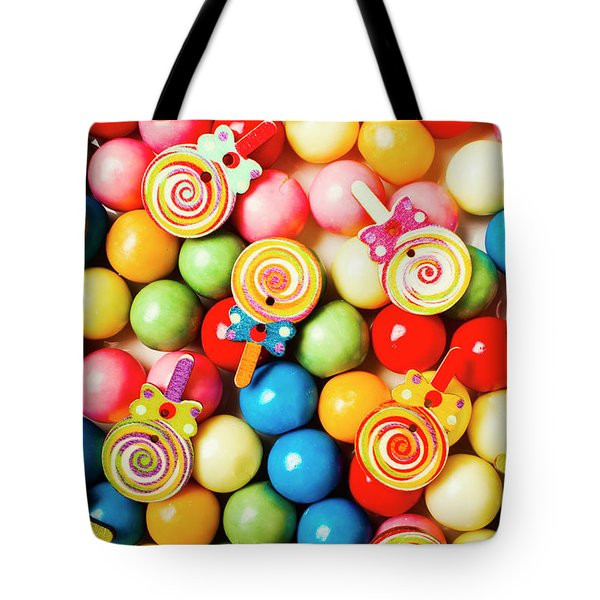 Lolly Shop Pops Tote Bag