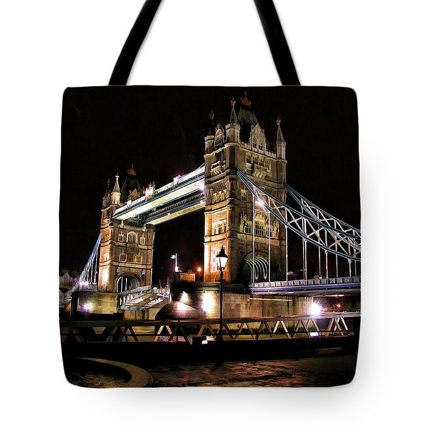 London Bridge At Night Tote Bag by Dean Wittle