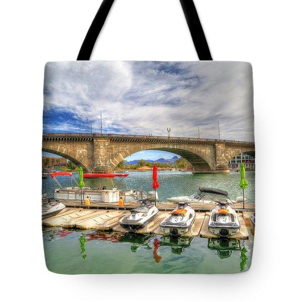 London Bridge View Tote Bag