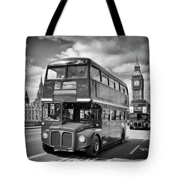 London Classical Streetscene Tote Bag