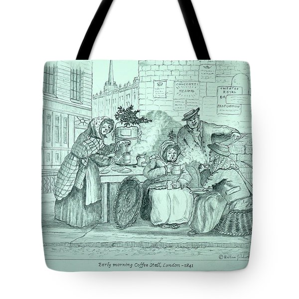 London Coffee Stall Tote Bag
