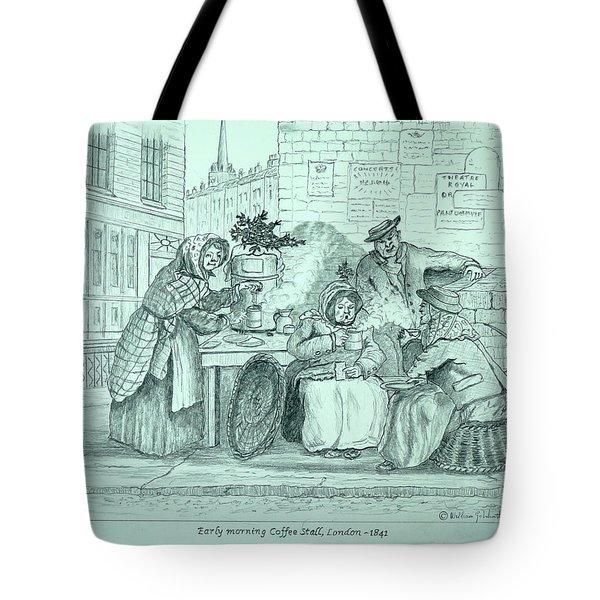 London Coffee Stall Tote Bag