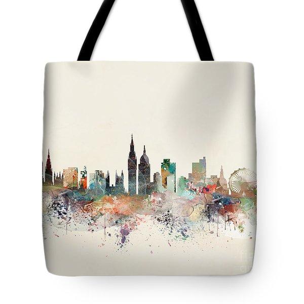 London England City Skyline Tote Bag