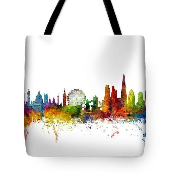 London England Skyline 16x20 Ratio Tote Bag