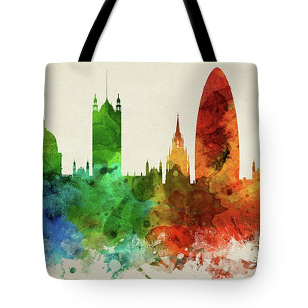 London England Skyline Panorama Gblo-pa02 Tote Bag by Aged Pixel