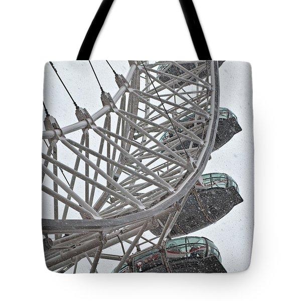 London Eye And Snow Tote Bag