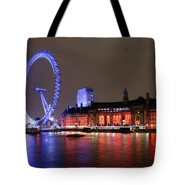 London Eye By Night Tote Bag