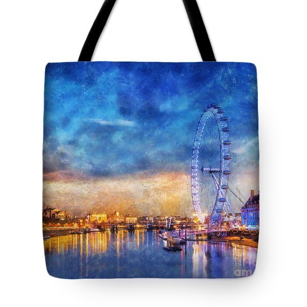 Tote Bag featuring the photograph London Eye by Ian Mitchell