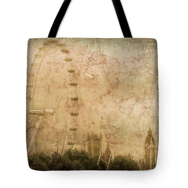 London, England - London Eye Tote Bag
