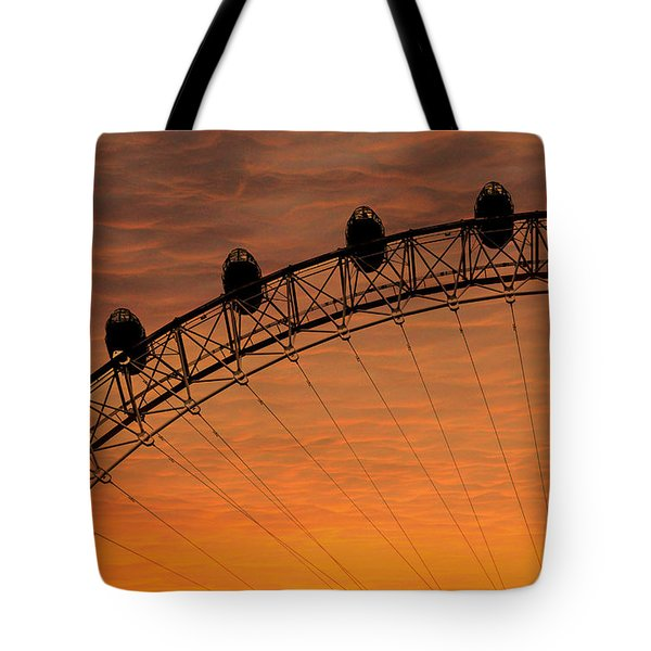 London Eye Sunset Tote Bag by Martin Newman