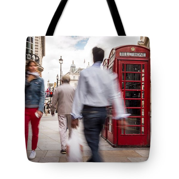 London In Motion Tote Bag