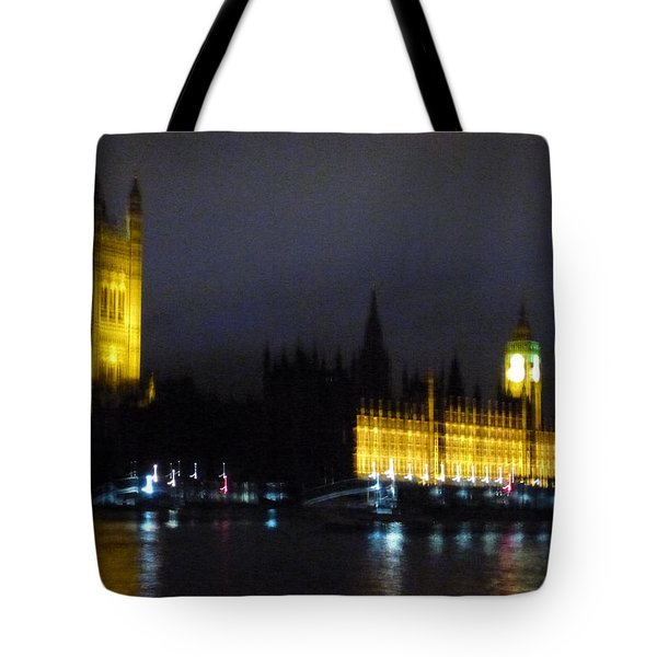 Tote Bag featuring the photograph London Late Night by Christin Brodie