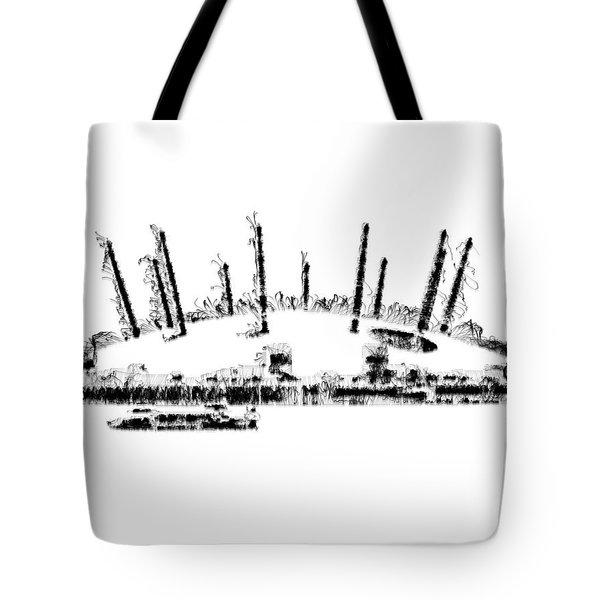 London O2 Arena Tote Bag
