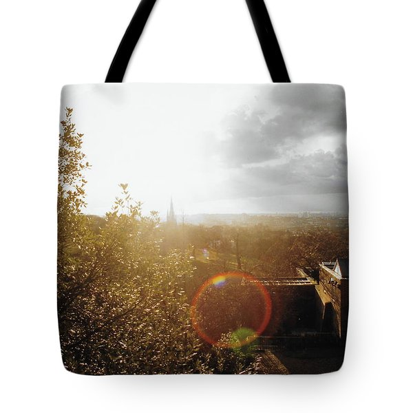 London Partialy Cloudy With A Chance Of Flare Tote Bag by Patrick Murphy