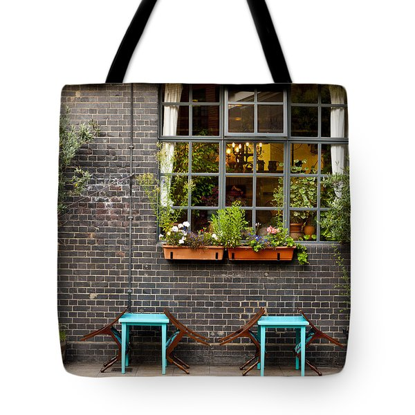 London Patio Tote Bag by Rae Tucker