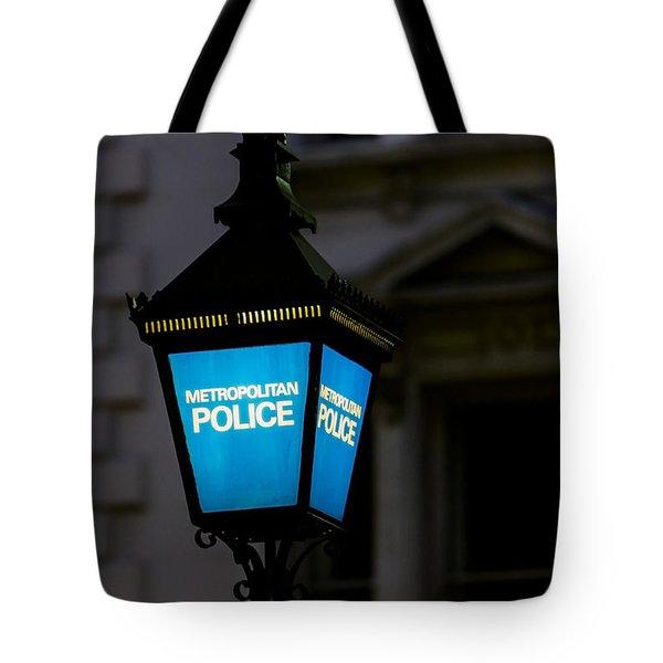 London Police Lamp Tote Bag