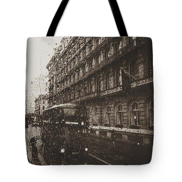 London Rain Tote Bag