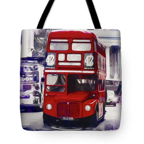 London Red Bus Tote Bag