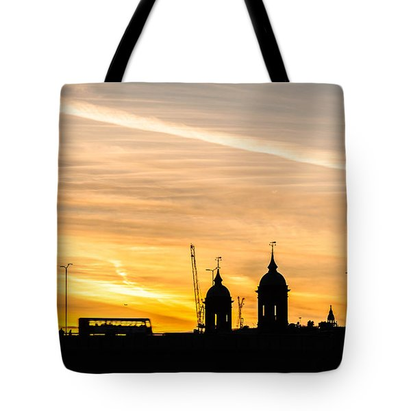 London Silhouette Tote Bag