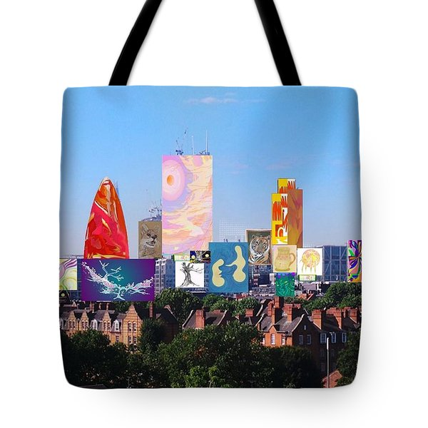 London Skyline Collage 1 Tote Bag