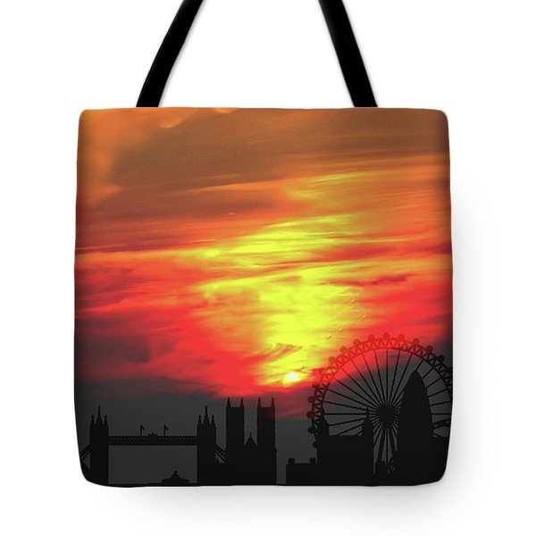 Sunset London Tote Bag