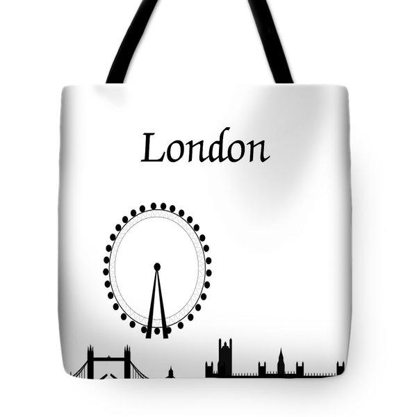 London Skyline Outline Tote Bag