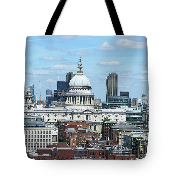 London Skyscrape - St. Paul's Tote Bag by Mini Arora