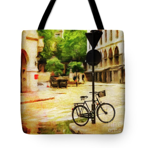 Tote Bag featuring the photograph London Street Bicycle by Craig J Satterlee