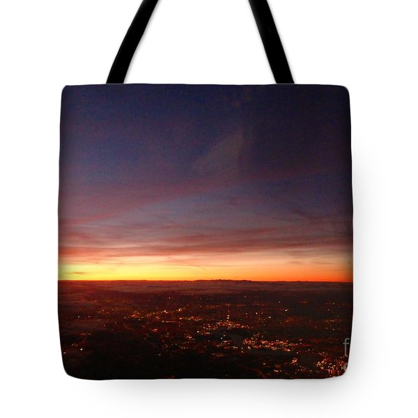 London Sunset Tote Bag by AmaS Art