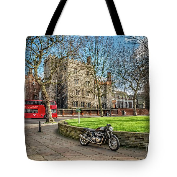 Tote Bag featuring the photograph London Transport by Adrian Evans