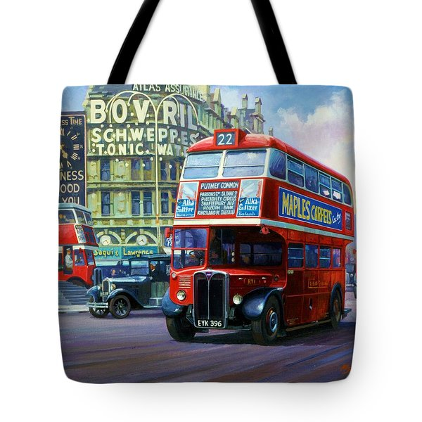 London Transport Rt1. Tote Bag
