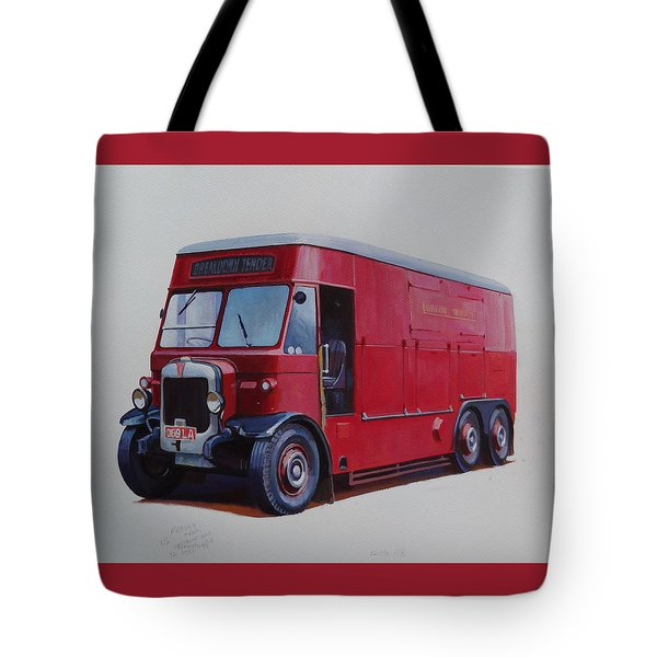 Tote Bag featuring the painting London Transport Wrecker. by Mike Jeffries
