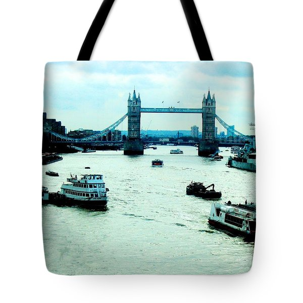 Tote Bag featuring the photograph London Uk by Michelle Dallocchio